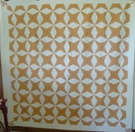 Four Point Touching Stars Quilt- note attached 1918