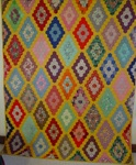 Field of Diamonds Quilt - Mint