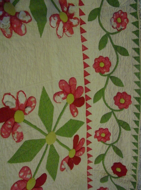 another view,,, lots of cotton stuffed work, this is what could be appliqued over if desired