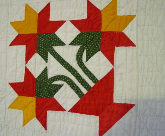 North Carolina Lily Antique Quilt Mint Cindy Rennels