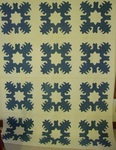 Blue and White Snowflake Quilt