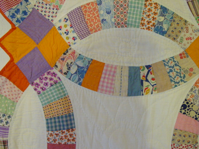 shows some of the quilting
