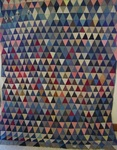 Pyramids - Triangles Quilt Top  SOLD
