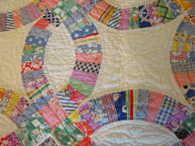 Small Scale Double Wedding Ring Quilt Sold Cindy