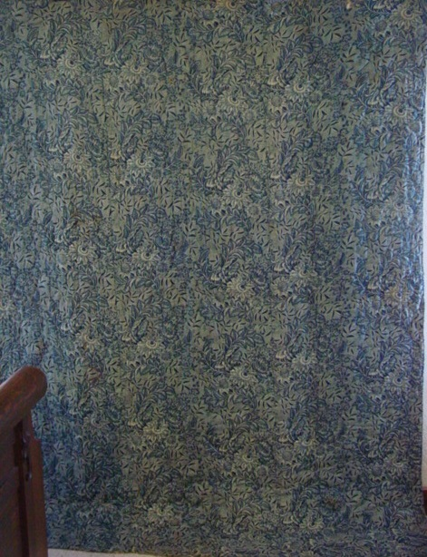Early chintz antique quilt- circa 1820's- full view