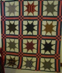 Feathered Stars Quilt With Border