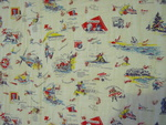 World War ll Feedsack Quilt-Kents-United Nations -SOLD