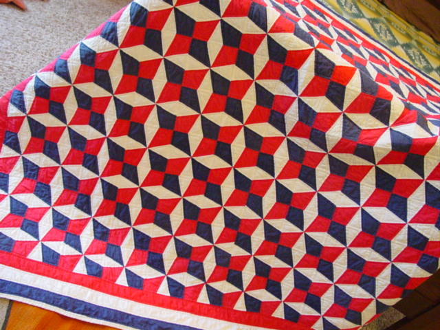 A wonderful scale pattern....shown  draped off a bed