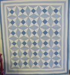 Amethyst Antique Quilt- Blue and White   SOLD