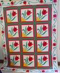 Tulip Applique -Triple Sashing- Quilt-Applique Border