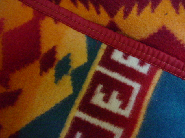 close up of blanket and edge