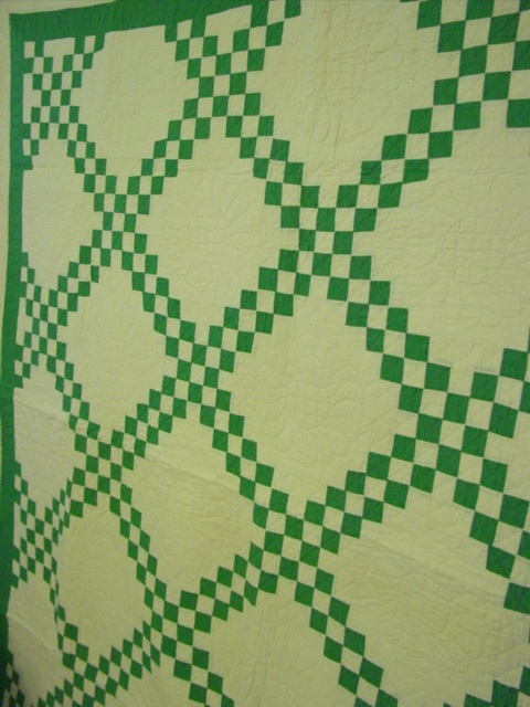 view of the quilt on a wall