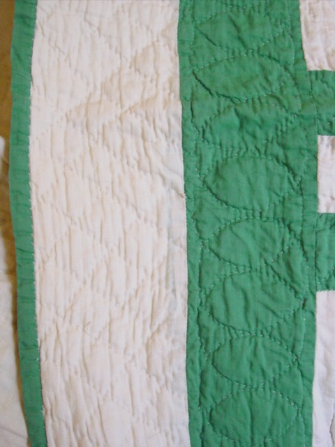 this shows the border and binding and quilting patterns