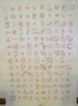Redwork Sampler Embroidered Dated 1893 Quilt-$895.00
