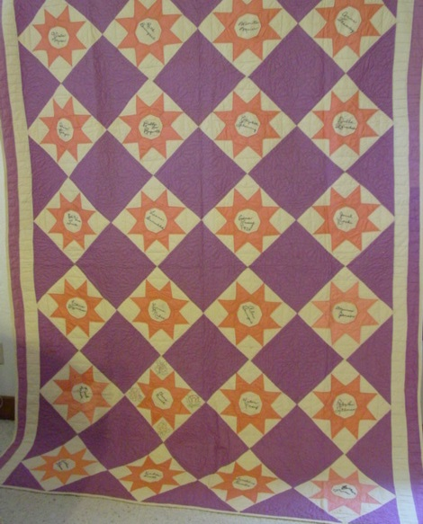 full view of Signature- Friendship Stars Quilt- 1920