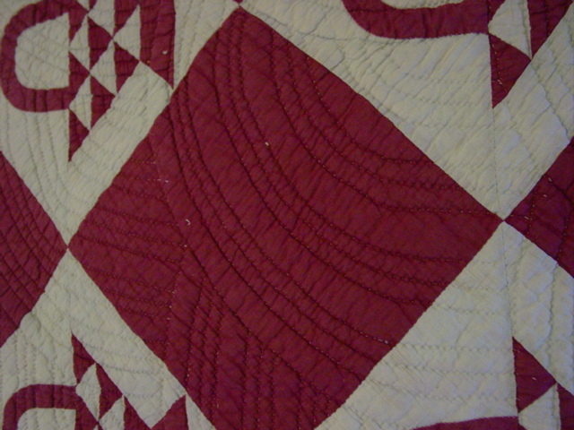Baptist fan quilting and double and triple rows of it