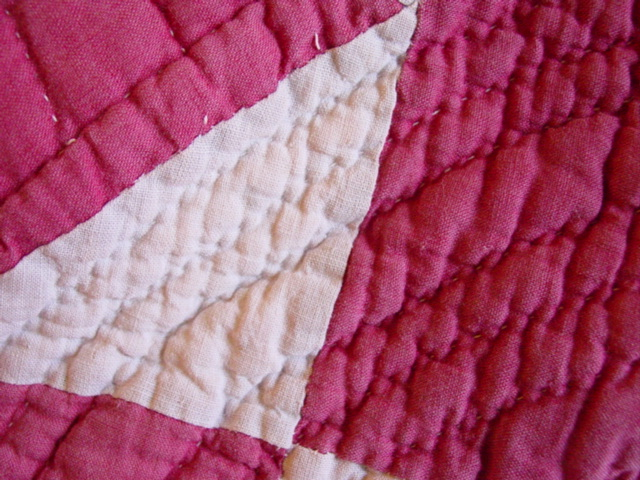 close up  fabric and quilting
