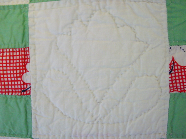 shows fine quilting