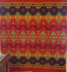 Indian Camp Beacon Blanket- Red, blue, green. SOLD