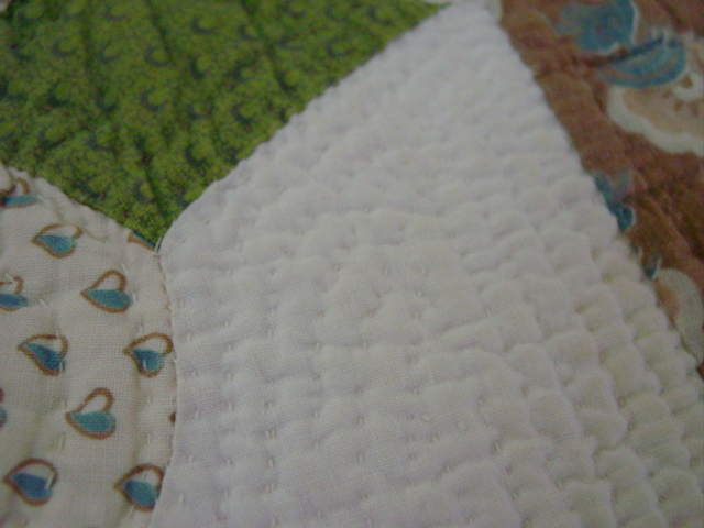 more close ups-- fabric and quilting