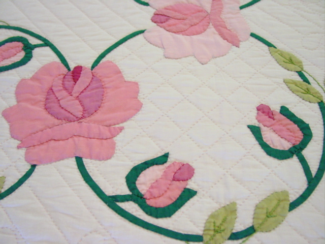 showing the applique and quilting