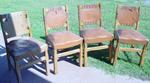 A Brandt Ranch Oak Set of 4 Side Chairs-ALL  SOLD