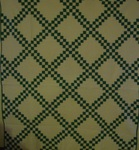 Green and White Double Irish Chain Quilt -SOLD