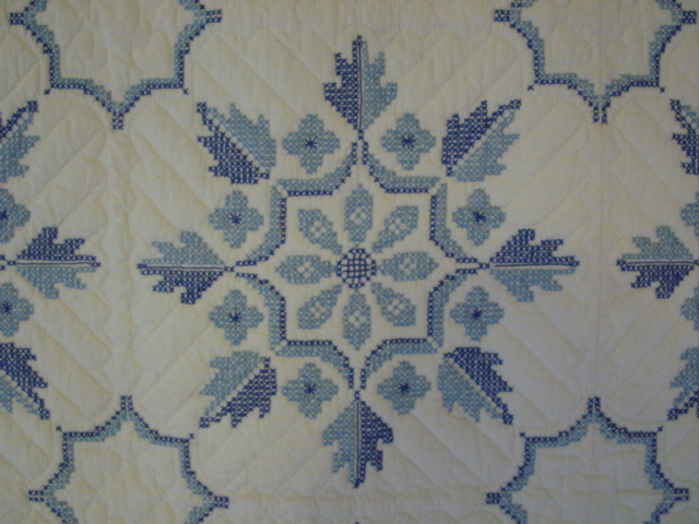 detailed pattern of cross stitch