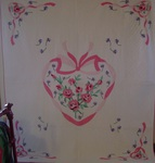 Roses in a Heart Quilt-Sweetheart Quilt