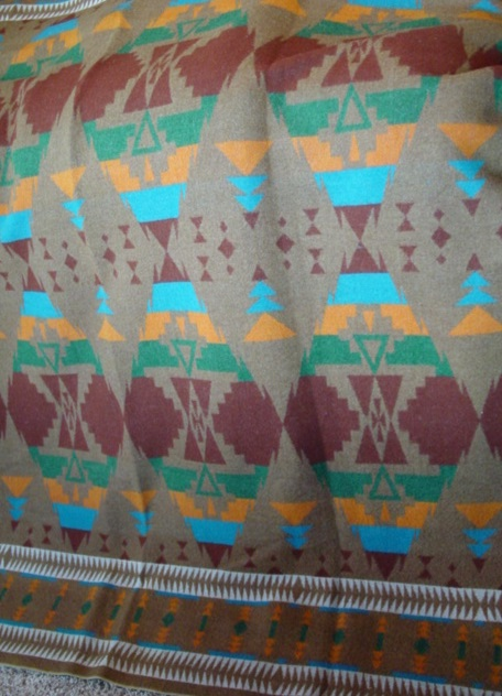 Oregon City Indian trade blanket- partial view