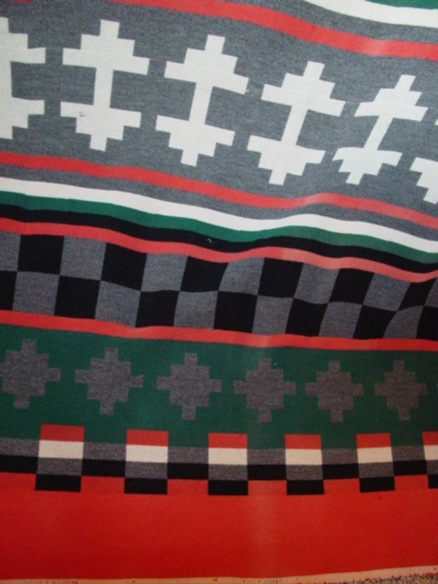 partial view of Capps Shoshone Indian Trade Blanket