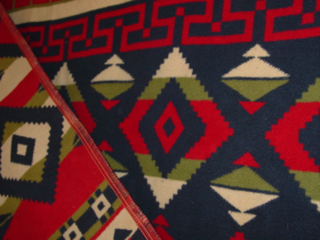 showing some of the binding and the colors of the blanket