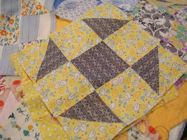 set of 17 Shufly quilt blocks