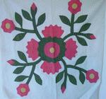 Whig Rose  Quilt Block  SOLD