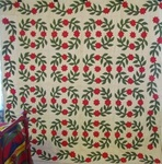 Wreath of Roses Applique Quilt - Vine Border SALE $850