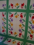 Tulip Garden Quilt With Tulip Border  $795