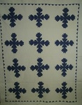 Blue and White Oakleaf Quilt  with Border $785.00